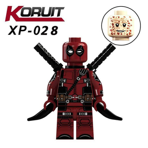 Deadpool Dead pool Taco Legoings Marvel Super Heroes XP028  2 X-Men Action Figures Model Antiheroes Building Blocks DIY Toy for Children Legoing AT_70_6