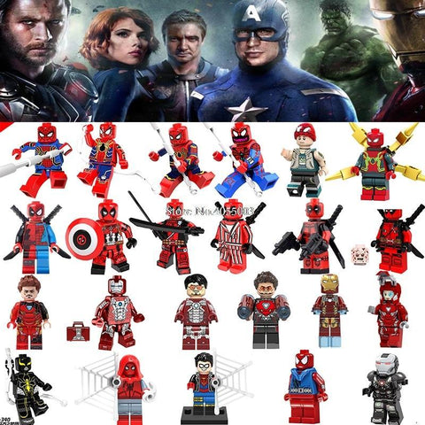 Deadpool Dead pool Taco Legoings Marvel Super Heroes  2 Spider Man Iron Man Avengers 3 Infinity War Model Building Block Toy kit Figures Legoing AT_70_6