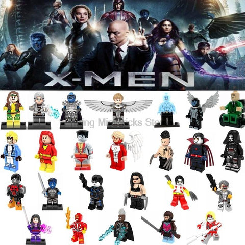 Deadpool Dead pool Taco Legoing X-men  Apocalypse Professor X Wolverine Building Blocks Marver  Toys for Children Legoings Magneto Jean Grey AT_70_6