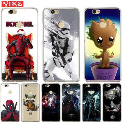 Deadpool Dead pool Taco  Raccoon princess Case For Huawei Honor 8 9 10 Lite 6A 6X 7 7A 7X 7C Cover Case Silicone Soft TPU Coques Capinha Etui AT_70_6