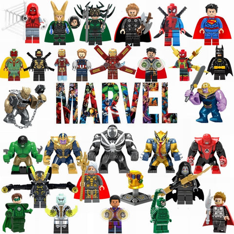 Deadpool Dead pool Taco Figurine Legoing Marvel Avengers Infinity War Thanos Thor Iron Man Hulk Batman  Wolverine Movie Figures Figurines Toys AT_70_6