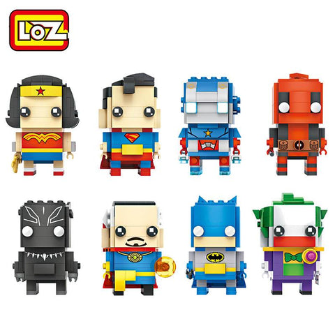 Batman Dark Knight gift Christmas LOZ Blocks Super Heroes Building Blocks Set Wonder Woman Superman Captain America Batman Joker Deadpool Brick Heads Figure Toys AT_71_6