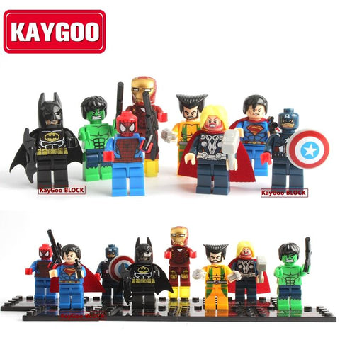 Batman Dark Knight gift Christmas Classic Super Heroes Movie Figures Ironman Batman Deadpool Thor Building Blocks Small Figures Flash Joker Kids Toy Gift AT_71_6