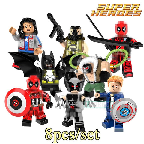 Batman Dark Knight gift Christmas Building Blocks Bricks Superhero Big Bane Miss America Captain America Batman Deadpool Wolverine Model Kids DIY Toys Gift PG8093 AT_71_6