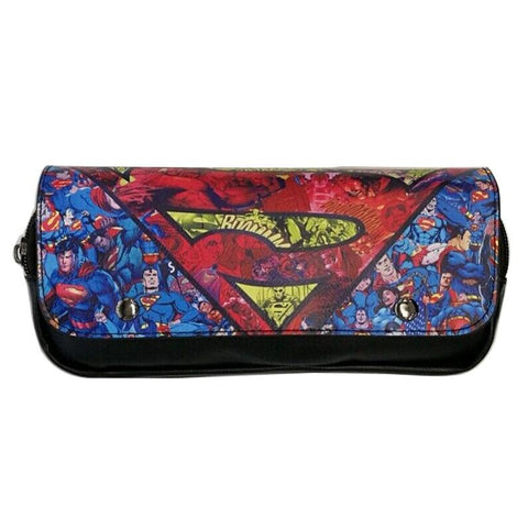 Batman Dark Knight gift Christmas Fashion Casual Leather Purse Cartoon Anime Superman Captain America Batman Ironman Wallets Hero Deadpool Pen Pencil Bags Wallet AT_71_6