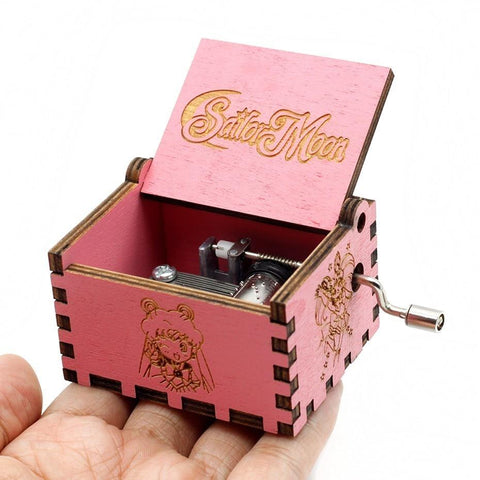 Kawaii Sailor Moon Sailormoon 36  Music Box Game Of Thrones Star Wars  The Godfather Wooden Hand Cranked Theme Music Birthday Gifts