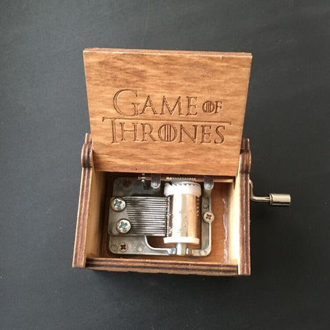 Winter Game of Thrones GOT Wooden Music Box Potter  action figure toys Christmas birthday new year gift for children AT_77_7
