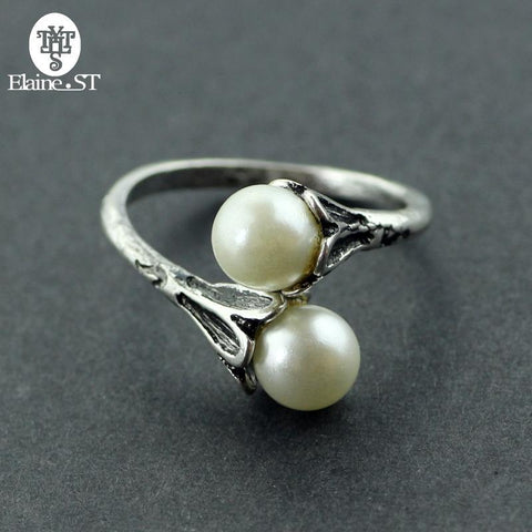 Winter Game of Thrones GOT Pearl Rings  Rings for Women Daenerys Targaryen Simulated Pearl Jewelry Vintage Female Ring can Adjustable AT_77_7