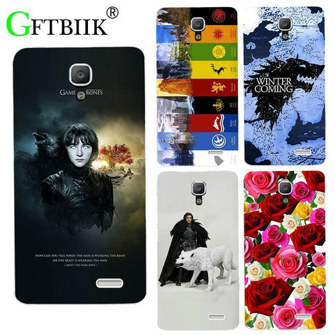 Winter Game of Thrones GOT For  7 Case For Lenovo A536 A 536 Cover Hard Plastic Printed Phone Back Shell Football Case Housing AT_77_7