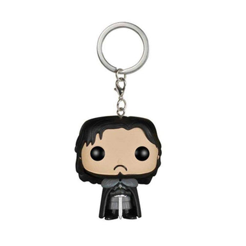 Winter Game of Thrones GOT  Jon Snow The Song  Ice And Fire Dragon Daenerys Targaryen Key Chain Action Figure Doll Toy With Retail Box AT_77_7