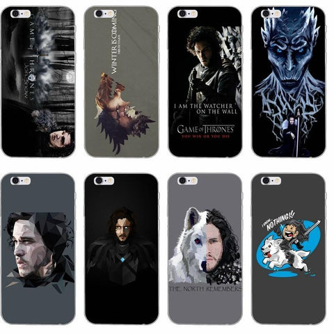 Winter Game of Thrones GOT Jon Snow  Silicone TPU St phone case For Huawei Honor 7 4c 5c 5x 6x v8 Mate 7 8 9 P7 P8 P9 P10 Lite plus 2017 AT_77_7