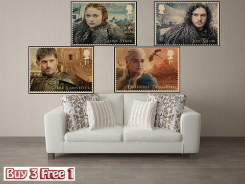 Winter Game of Thrones GOT  stamps Vintage Kraft Paper movie Poster Retro Wall art Home Decorative Wall Sticker Home Decora Bar Cafe A1 AT_77_7
