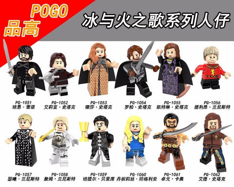 Winter Game of Thrones GOT Super Heroes Ice and Fire Alicia Stark Petyr Baelish Jaime Lannister Cersei  Building Blocks Children Toys PG8072 AT_77_7