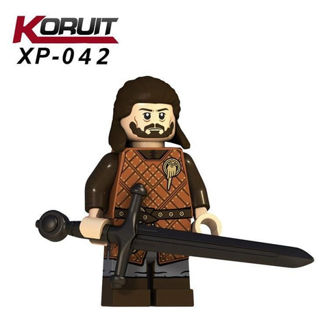 Winter Game of Thrones GOT Legoing  Season:3 Figures Winterfell Soldier with Sword A Song  Ice and Fire Legoing Movie Toys For Kids XP042 AT_77_7