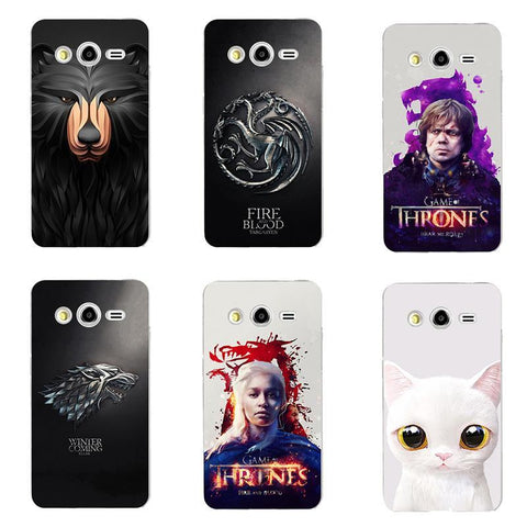 Winter Game of Thrones GOT for  Drogon St Silicone Phone cover Case Fundas Case For Samsung Galaxy Core 2 Duos SM-G355H/DS SM-G355H AT_77_7