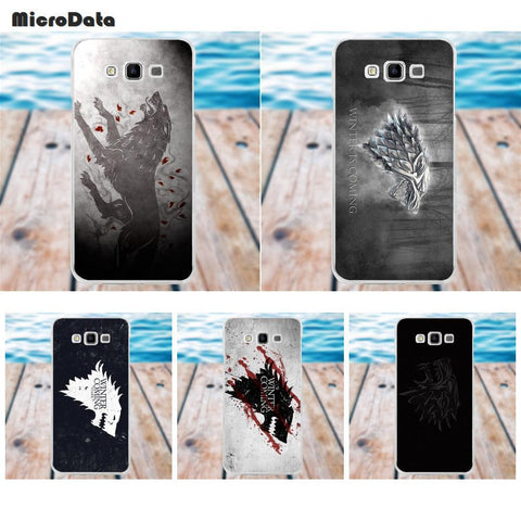 Winter Game of Thrones GOT MicroData Stark Logo    For Samsung Galaxy A3 A5 A7 J1 J2 J3 J5 J7 2015 2016 2017 TPU Phone Cover Case AT_77_7