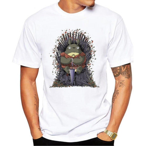 Winter Game of Thrones GOT T shirt Men 2017 Fashion    Design Tee Shirt Funny Totoro on the Trone T-shirt for Male Short Sleeve Harajuku Tops AT_77_7