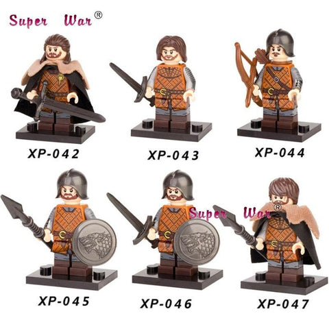 Winter Game of Thrones GOT Single sale  Eddard Stark Ice and Fire Caitlin Alicia Stark Petyr building blocks model bricks toys for children AT_77_7