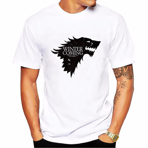 Winter Game of Thrones GOT 2018    stark wolf flag Totems summer t shirt homme new arrive casual tshirt  Short Sleeve Plus Size T-shirt AT_77_7