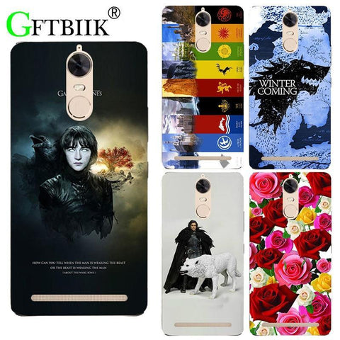 "Winter Game of Thrones GOT For  7 Case For Lenovo Vibe K5 Note A7020 K52t38 A7020a40 A7020a48 5.5"" Cover Hard PlasticShell Football Housing AT_77_7"