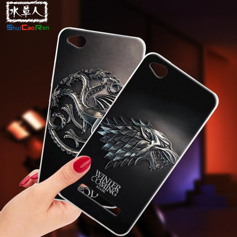 Winter Game of Thrones GOT ShuiCaoRen Silicone Cases For Xiaomi Redmi 4A Case  Black Shell For Xiaomi Redmi 4A Cover AT_77_7