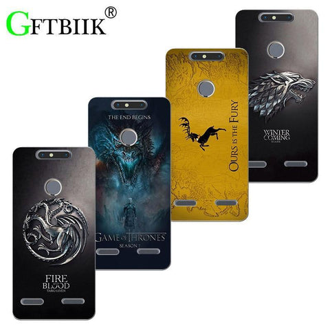 "Winter Game of Thrones GOT Cute Cartoon Case For ZTE  V8 Mini V 8 Mini 5.0"" St Silicone Case Fashion Printed Football Flower Cover  7 AT_77_7"