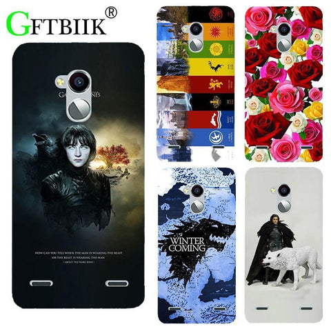Winter Game of Thrones GOT For  7 Case For ZTE  V7 Lite /  V6 PLus Cover St Silicone Printed Phone Back Shell Football Cases AT_77_7