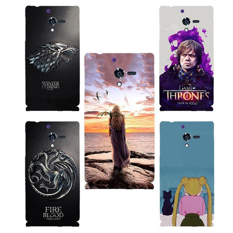 Winter Game of Thrones GOT for Sony Xperia ZL  Daenerys hard PC Phone cover Case For Sony Xperia ZL L35h C6503 C6502 Fundas capa Coque Shell AT_77_7
