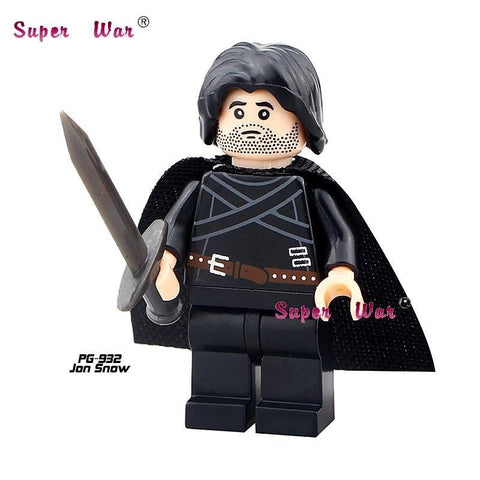 Winter Game of Thrones GOT 1PCS  Jon Snow superhero marvel avengers building blocks action  sets model bricks toys for children AT_77_7
