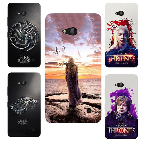 Winter Game of Thrones GOT for  Daenerys Drogon Jon snow St silicone Case Fundas for Microst Lumia 640 Lte Dual Sim N640 printed cover AT_77_7