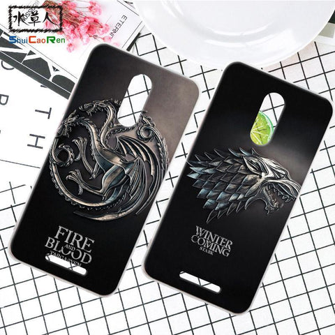 Winter Game of Thrones GOT Silicone Case For Gionee Elife S7 S6S S6 S Retra  Cover Phone Coque Ice and Fire For Gionee Elife S9 S10 S11 AT_77_7