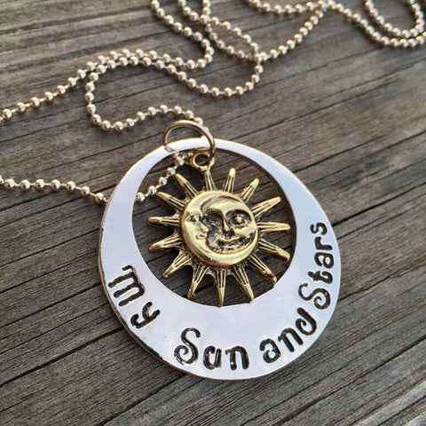 Winter Game of Thrones GOT 1Piece Fashion Style Necklace  Moon  My Life My Sun and Stars Pendant Necklace Women Men Girl Boy Gift AT_77_7