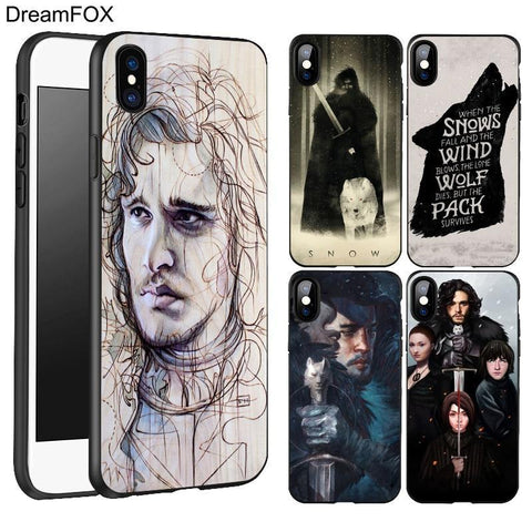Winter Game of Thrones GOT DREAMFOX L241 Snow    Black St TPU Silicone Case Cover For Apple iPhone XR XS Max X 8 7 6 6S Plus 5 5S 5G SE AT_77_7