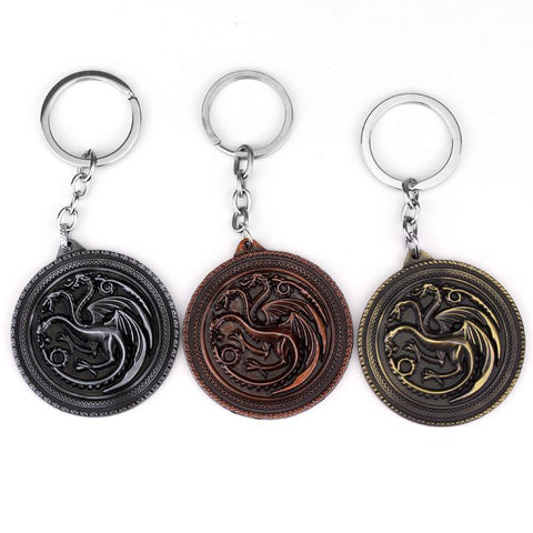 Winter Game of Thrones GOT  Keychain A Song  Ice and Fire Shield Metal Key Chain For Women Men Car Key Ring AT_77_7