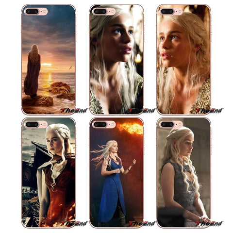 Winter Game of Thrones GOT Transparent TPU Cases Daenerys    For Huawei G7 G8 P7 P8 P9 Lite Honor 4C 5X 5C 6X Mate 7 8 9 Y3 Y5 Y6 II 2 Pro 2017 AT_77_7
