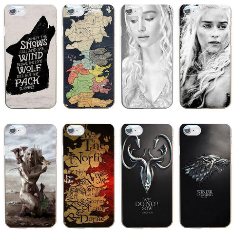 Winter Game of Thrones GOT 264GV The  Hard Transparent Cover Case for iphone 4 4s 5 5s se 6 6s 8 plus 7 7 Plus X AT_77_7
