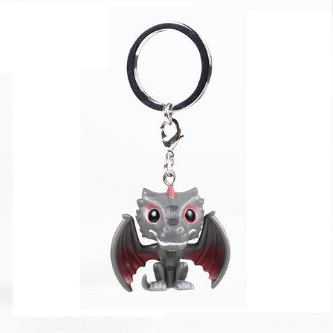 Winter Game of Thrones GOT  Dragon Action Figures Children Toy Fire Dragon Keychain With Retail Box AT_77_7