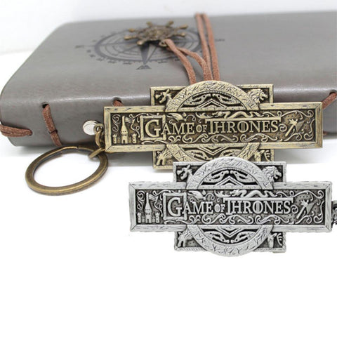 Winter Game of Thrones GOT Famous Film/Movie  logo key chain bronze charms Daenerys metal keychain Costume Props chaveiro llavero Jewelry AT_77_7
