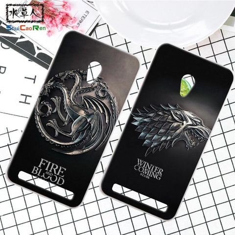 Winter Game of Thrones GOT ShuiCaoRen Silicone Phone Case For Asus Zenfone 6 Retra  Cover Phone Coque For Asus Zenfone 6 A600CG A601CG AT_77_7