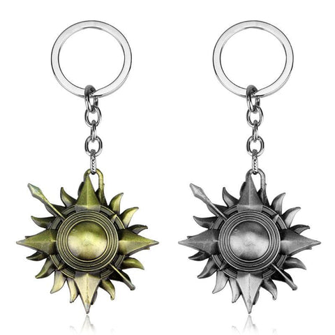 Winter Game of Thrones GOT  KEY CHAINS song  ice and fire Sun Badge KEYRING Movie Jewelry for  AT_77_7