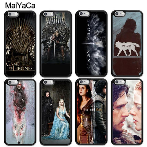 Winter Game of Thrones GOT MaiYaCa    Print St TPU Cell Phone Cases Bags For iPhone 6 6S Plus 7 8 Plus X 5 5S SE Back Cover Shell AT_77_7