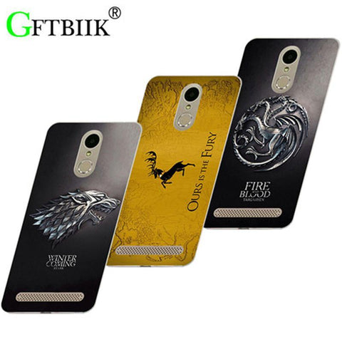 "Winter Game of Thrones GOT Cute Cartoon Case For ZTE  A602 BA602 5.5"" St Silicone Case Fashion Printed Cover  7 AT_77_7"