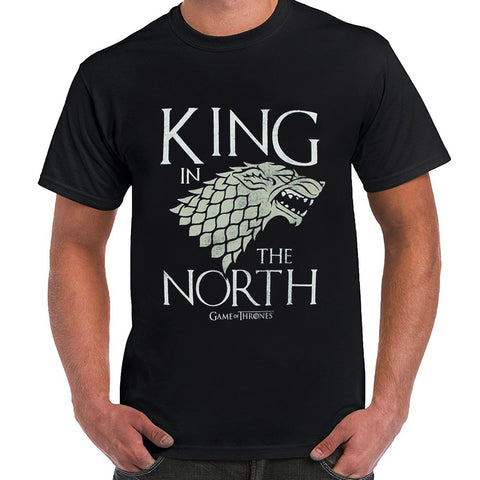 Winter Game of Thrones GOT  King in the North Stark Sigil Adult T-shirt AT_77_7