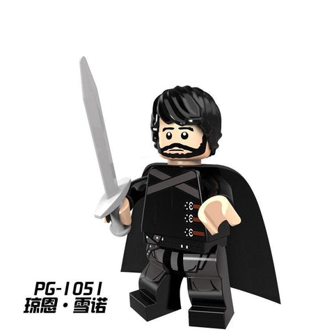 Winter Game of Thrones GOT Jon Snow Single Sale Legoing  Ice and Fire Model Building Blocks Toys For Children PG1051 Figures Legoings AT_77_7