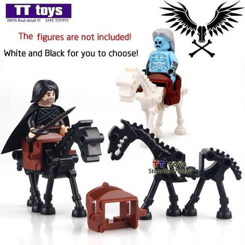 Winter Game of Thrones GOT Skeleton White Walker White Black Horse MOC  Mini Dolls Ice and Fire Series Building Block Chindren Toys AT_77_7