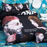 Bedding Set sanding Cartoon animation One Piece Naruto stupid dog movie 4pcs/3pcs Duvet Cover Sets Bed Sheet Set Pillowcase