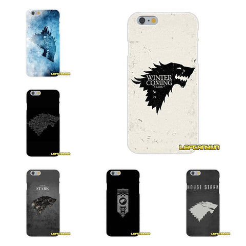 Winter Game of Thrones GOT For iPhone X 4 4S 5 5S 5C SE 6 6S 7 8 Plus GOT  House Stark Silicone St Phone Case AT_77_7