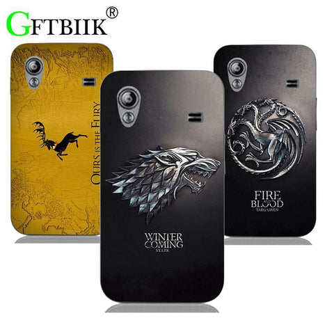 Winter Game of Thrones GOT Cute Cartoon Case For Samsung Galaxy Ace S5830i GT S5830 GT-S5830i Hard Plastic Case Fashion Football Cover  7 AT_77_7