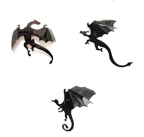 Winter Game of Thrones GOT 7Pcs / Set Wall Stickers 3D Dragon  Gothic Wallpaper Stranger Things Poster InSpired Decoration F511 AT_77_7