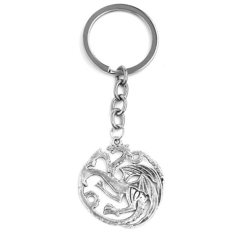 Winter Game of Thrones GOT Movie Series New Design Fine jewelry The Songs  Ice And Fire    House Targaryen Dragon Logo Pendant Keychain AT_77_7